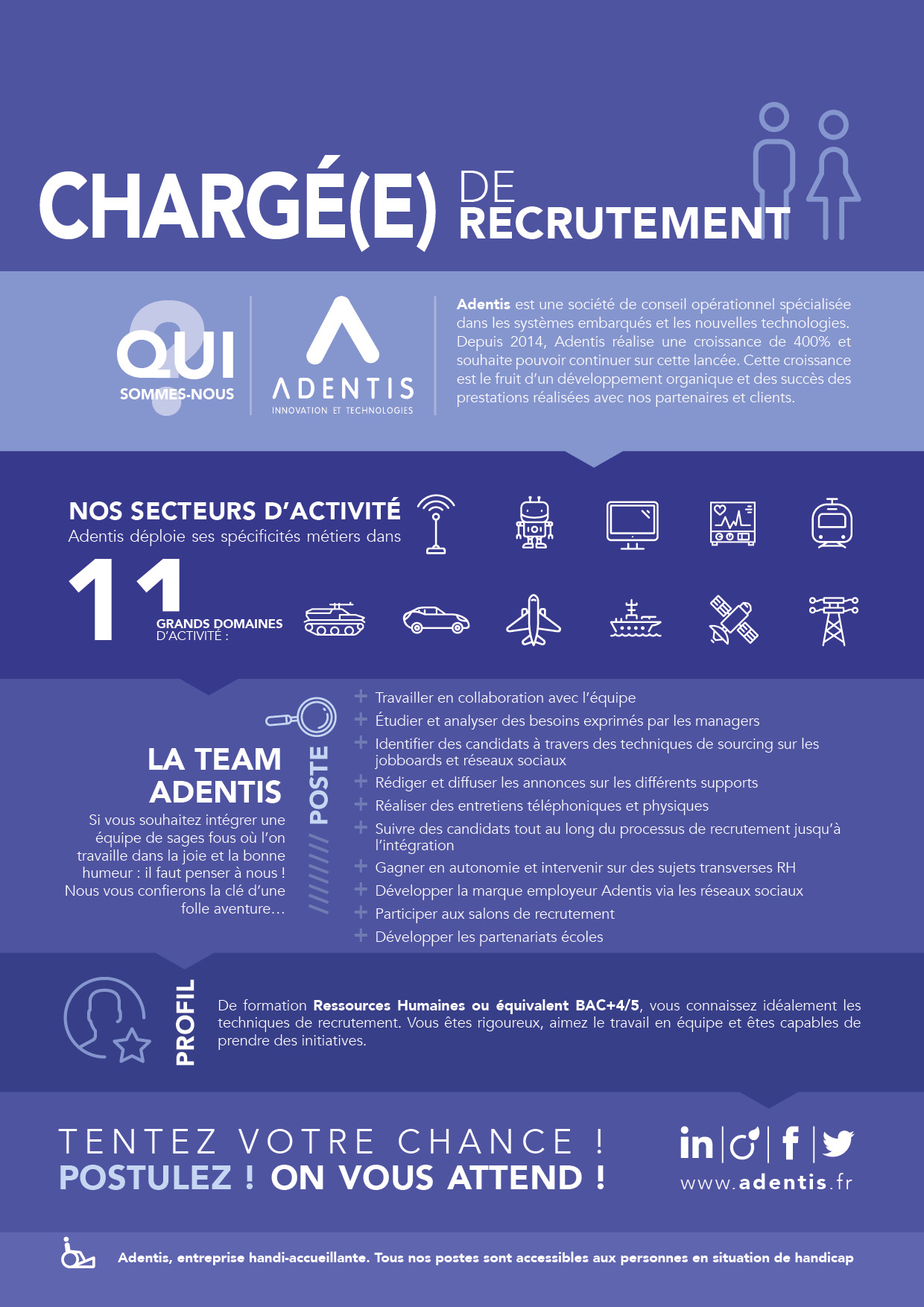 charg u00e9 e  de recrutement